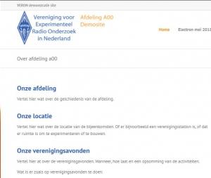 Training webredacteuren voor VERON huisstijl afdelingswebsite